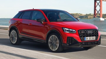 Front-side view of the Audi SQ2.